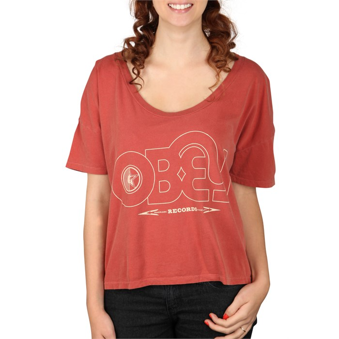 Obey Clothing - Voices Record Vintage Crop T Shirt - Women's
