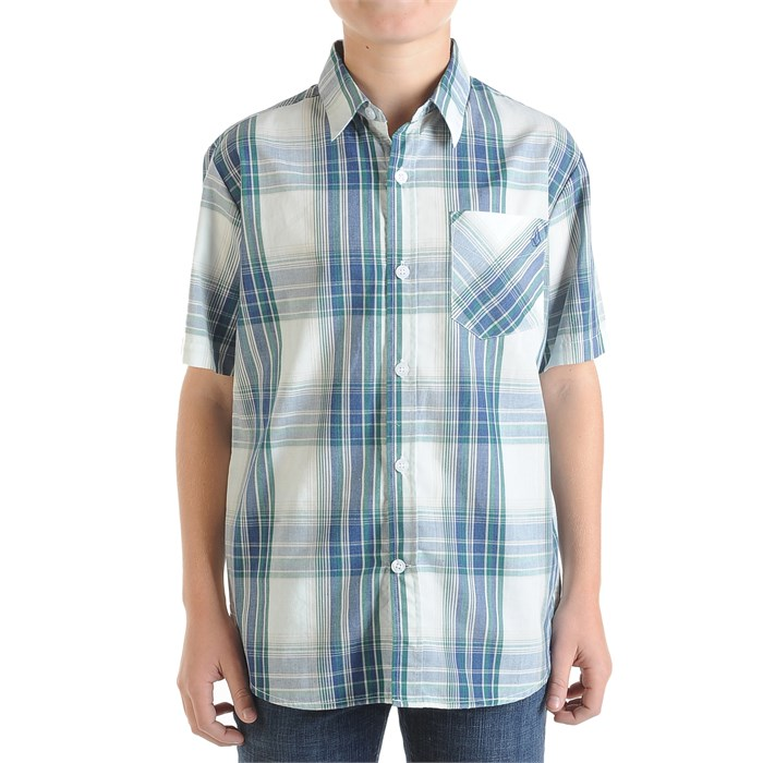 Volcom - Ex Factor Plaid Short-Sleeve Button-Down Shirt (Ages 8-14) - Boy's
