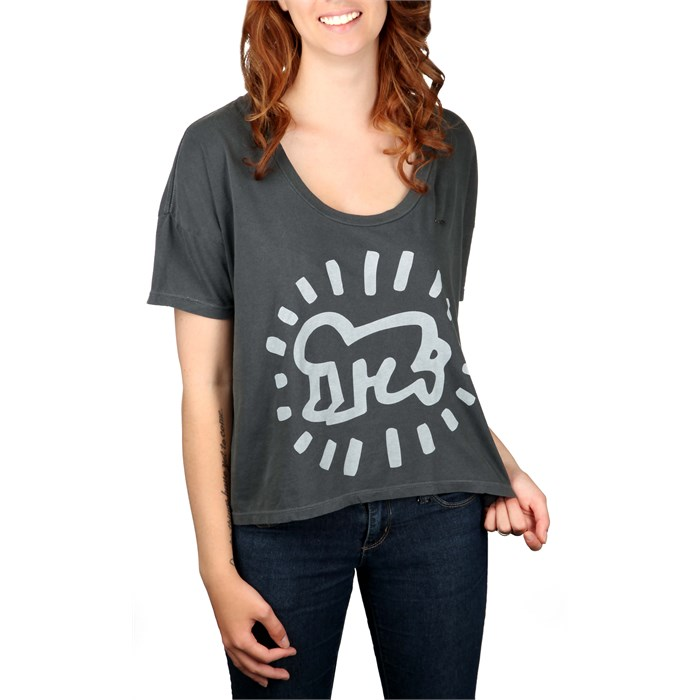 Obey Clothing - Keith Haring Baby Vintage Crop T Shirt - Women's
