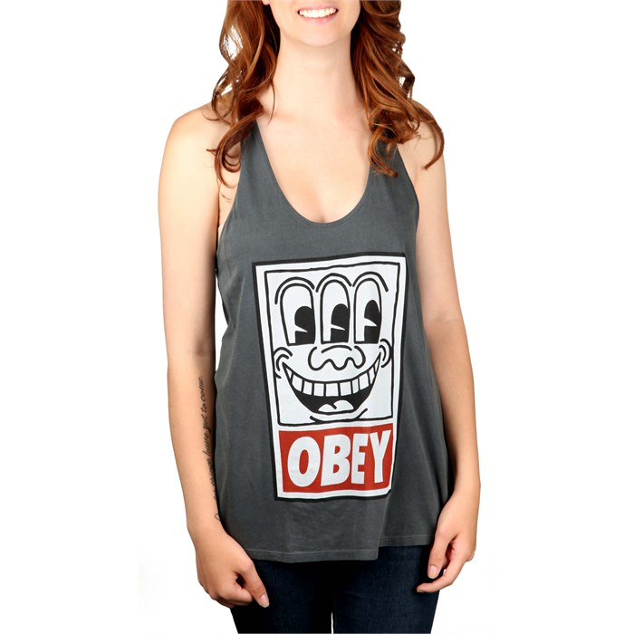 obey clothing keith haring eyes tank top women 39 s evo. Black Bedroom Furniture Sets. Home Design Ideas