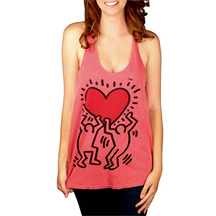 Obey Clothing - Keith Haring Red Heart Tank Top - Women's