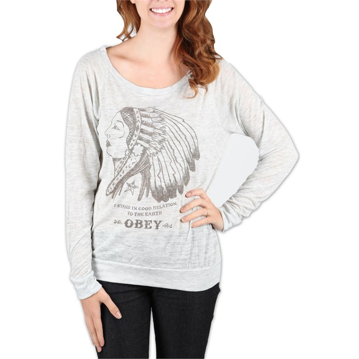 Obey Clothing - Good Relation To Earth Crew Sweatshirt - Women's