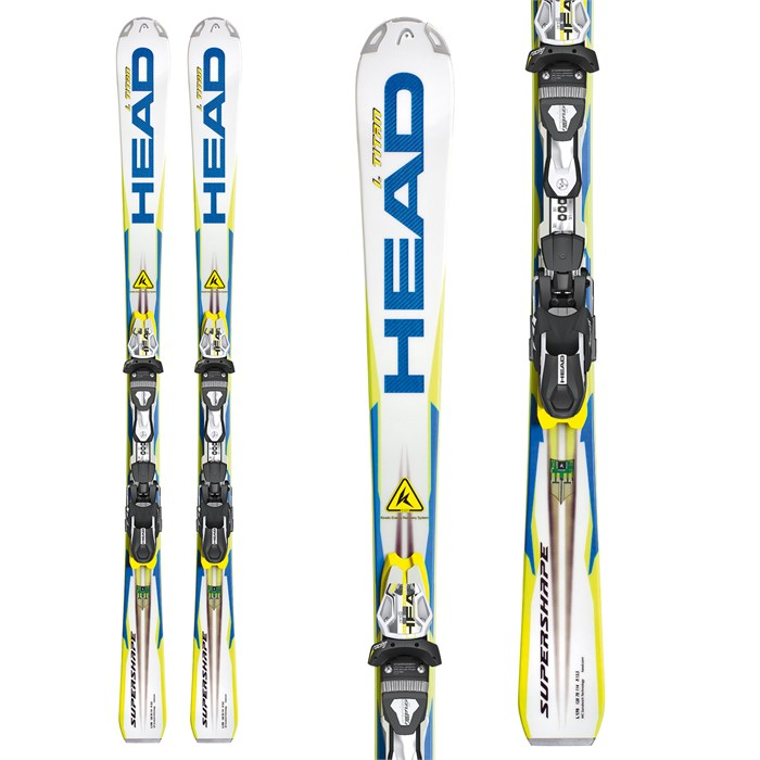 Head - i.Supershape Titan Skis + FreeFlex Pro 14 Wide 88 Bindings 2013