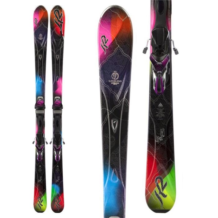 K2 - SuperBurnin Skis + Marker ERS 11.0 TC Bindings - Women's 2013