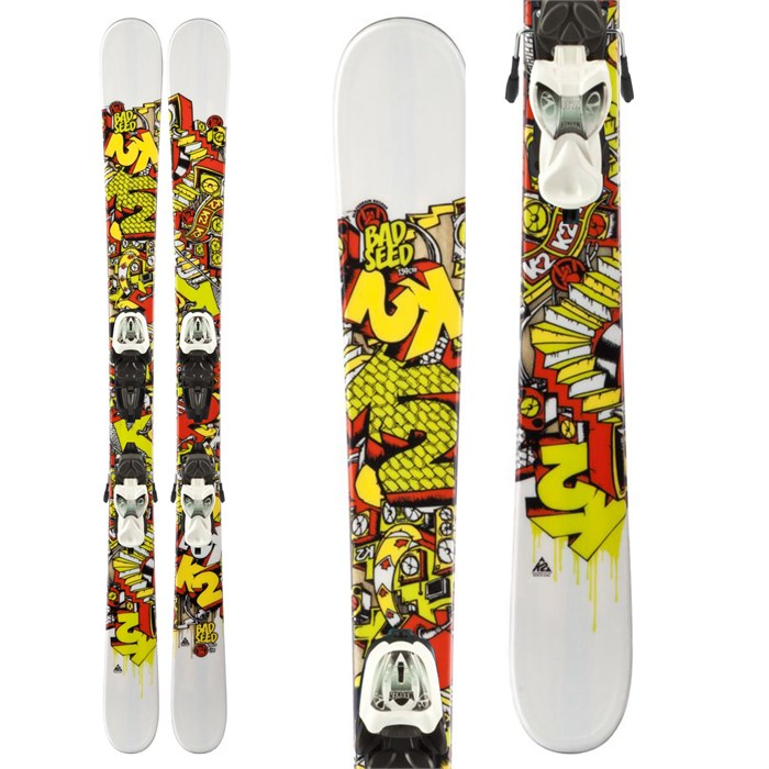 K2 - Bad Seed Skis + Marker Fastrak2 7.0 Bindings - Youth - Boy's 2013