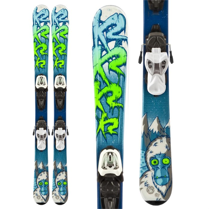 K2 - Indy Skis + Fastrak2 4.5 Bindings - Boy's 2014