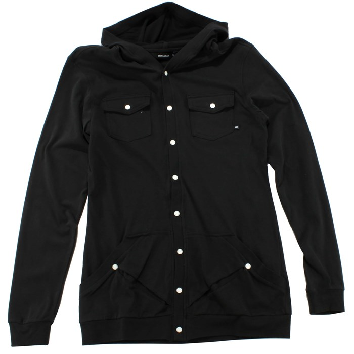 Makia - Jersey Button Up Hoodie