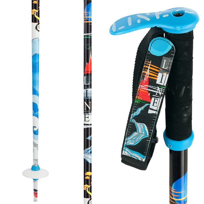 Line Skis - Pollard's Paint Brush Ski Poles 2013