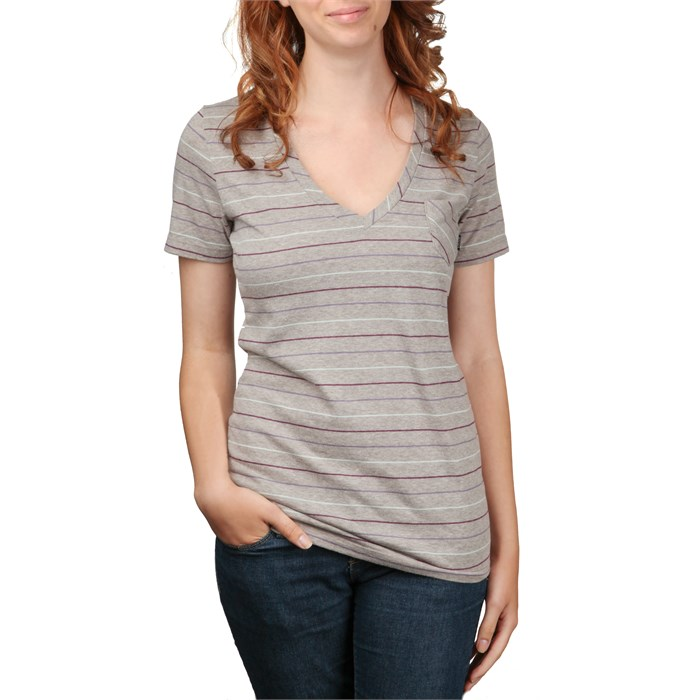 Vans - Pencil Thin V Neck T Shirt - Women's