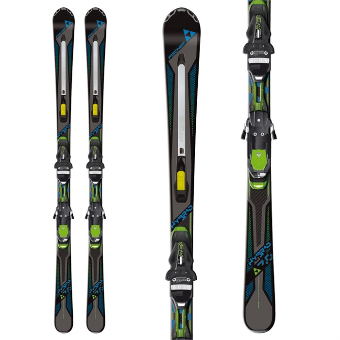 Fischer - Hybrid 7.0 Skis + RSX Z12 Powerrail Bindings 2013