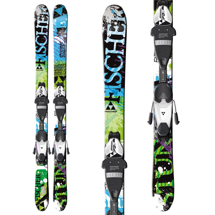 Fischer - Stunner Skis + FJ7 AC Jr Rail Bindings - Youth 2013