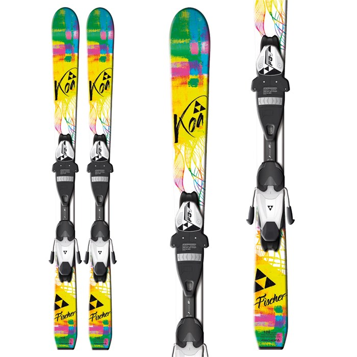 Fischer - Koa Jr Skis + FJ4 AC Jr Rail Bindings - Youth - Girl's 2013