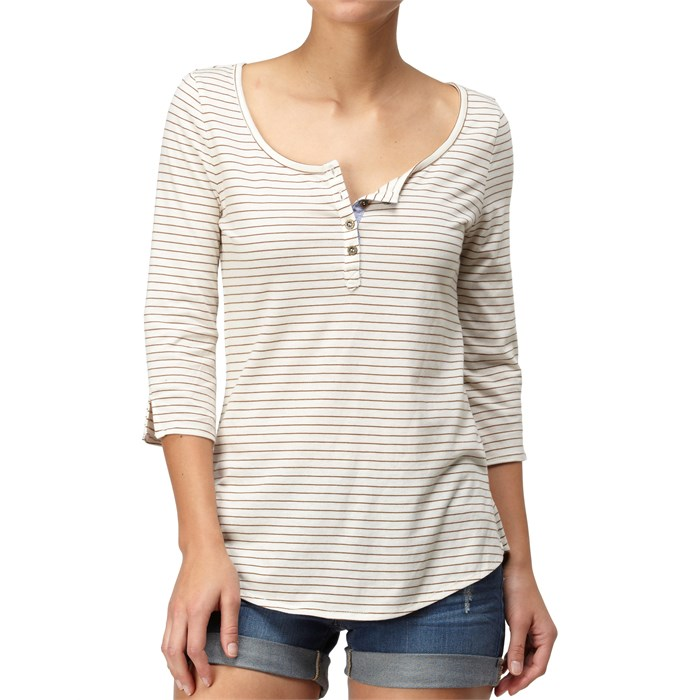 Quiksilver - Mini Stripe Henley Top - Women's