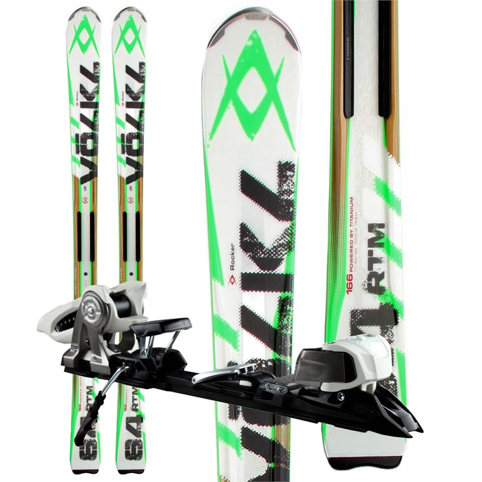 Volkl - RTM 84 Skis + iPT Wide Ride 12.0 Bindings 2013 - Used