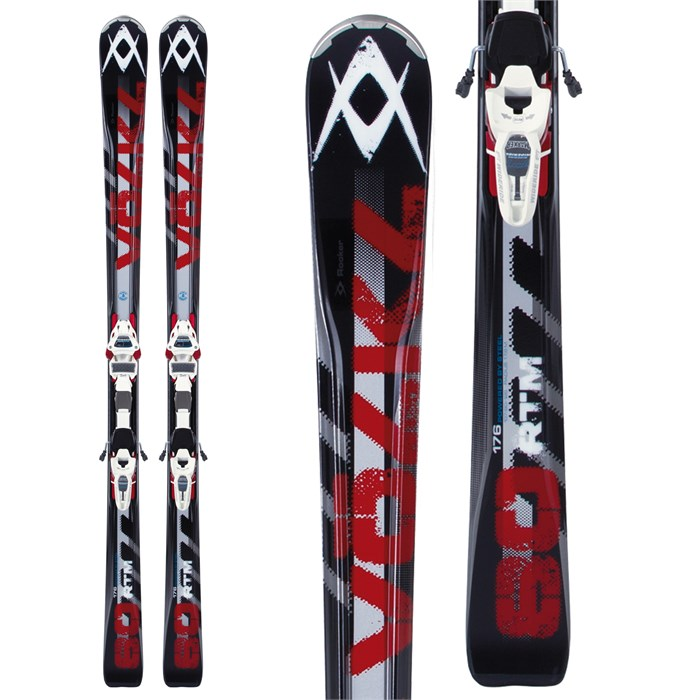 Volkl - RTM 80 Skis + iPT Wide Ride 12.0 Bindings 2013