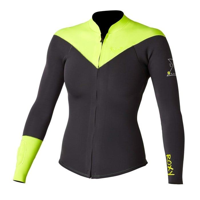 Roxy - Kassia Meador 2mm Long Sleeve Front Zip Jacket - Women s ... 049e6285e