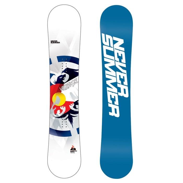 Never Summer - Heritage X Wide Snowboard 2013