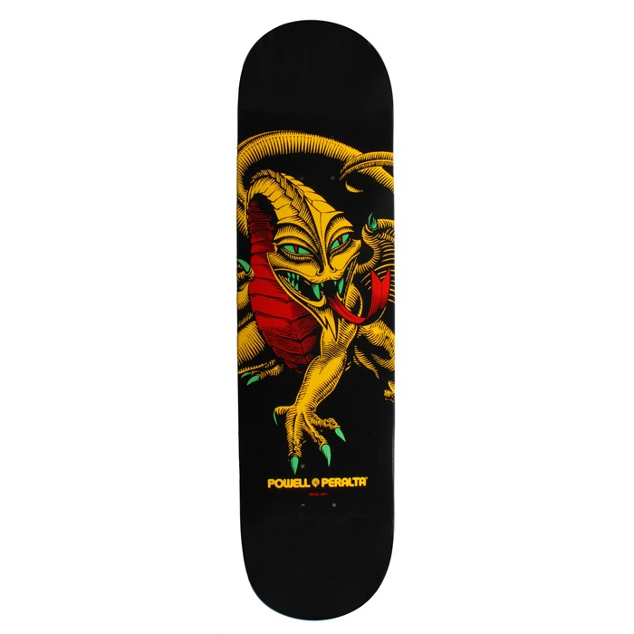 Powell - Blacklight Series Caballero Dragon Rasta Skateboard Deck