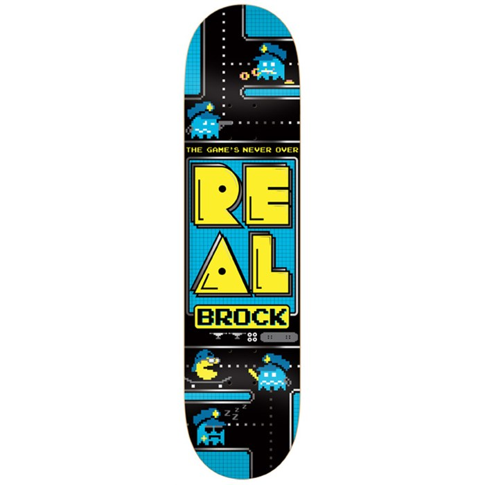 Real - Brock The Game's Never Over Skateboard Deck