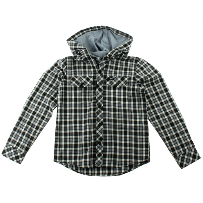 RVCA - Radio Drop Hooded Button-Down Shirt (Ages 8-14) - Boy's
