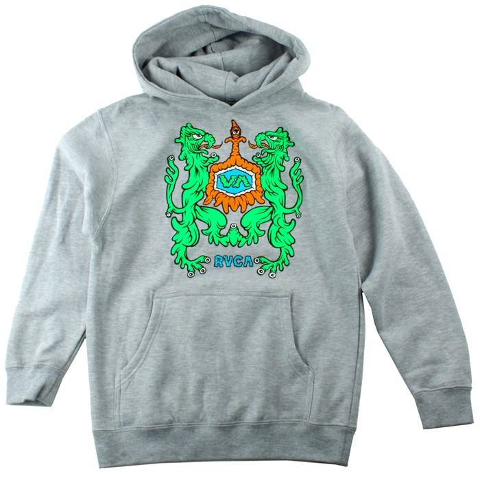 RVCA - Monster Crest Pullover Hoodie (Ages 8-14) - Boy's