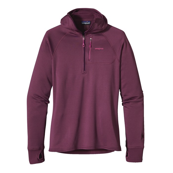 Patagonia - R1 1/4 Zip Hooded Jacket - Women's