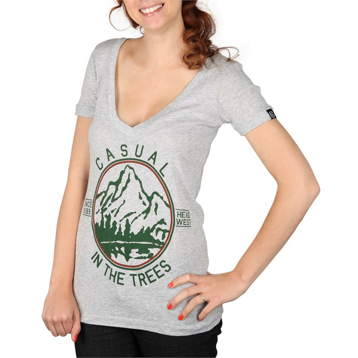 Casual Industrees - Casual Industrees In The Trees V Neck T Shirt - Women's
