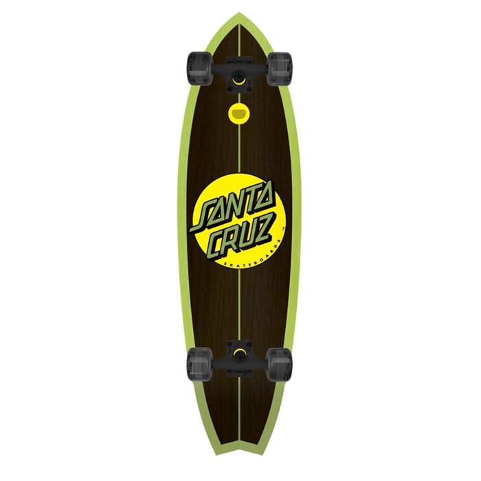 Santa Cruz - Woody Shark Green Cruzer Longboard Complete