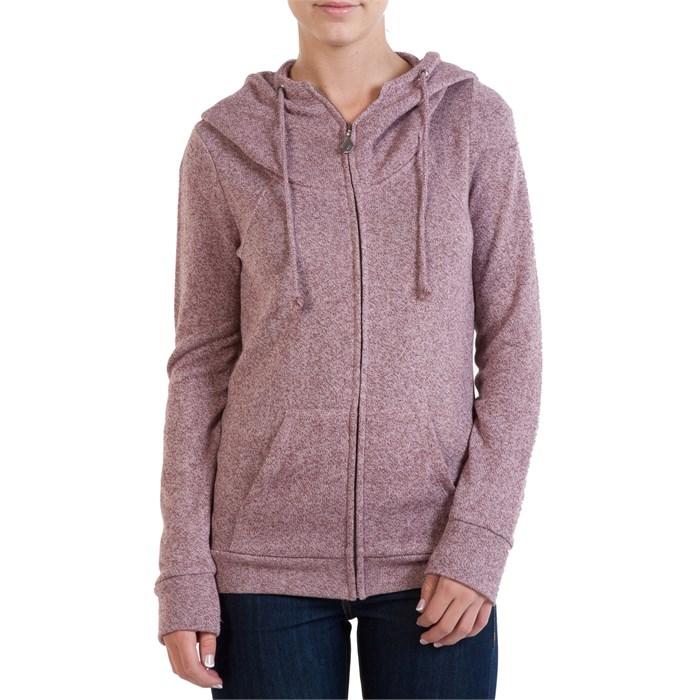 Zip Hoodie Knitting Pattern : Volcom Knit Me A Zip Hoodie - Womens evo outlet