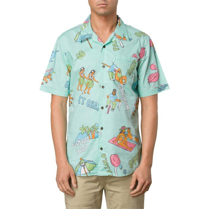 ada1c99f4ee8a8 Vans - Casual Friday Aloha Short-Sleeve Button-Down Shirt ...