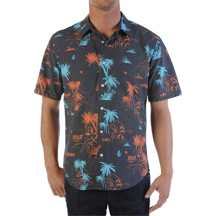 Volcom - Mental Fun Short-Sleeve Button-Down Shirt