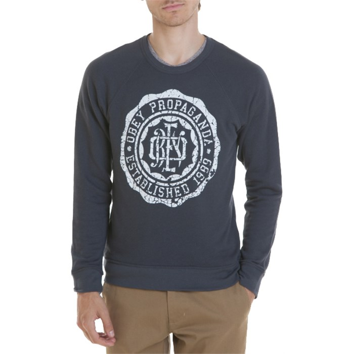 Obey Clothing - College Crest Crew Neck Sweatshirt