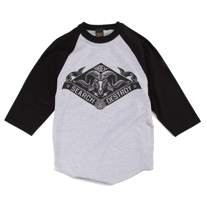 Obey Clothing - Search And Destroy Goat Raglan T-Shirt