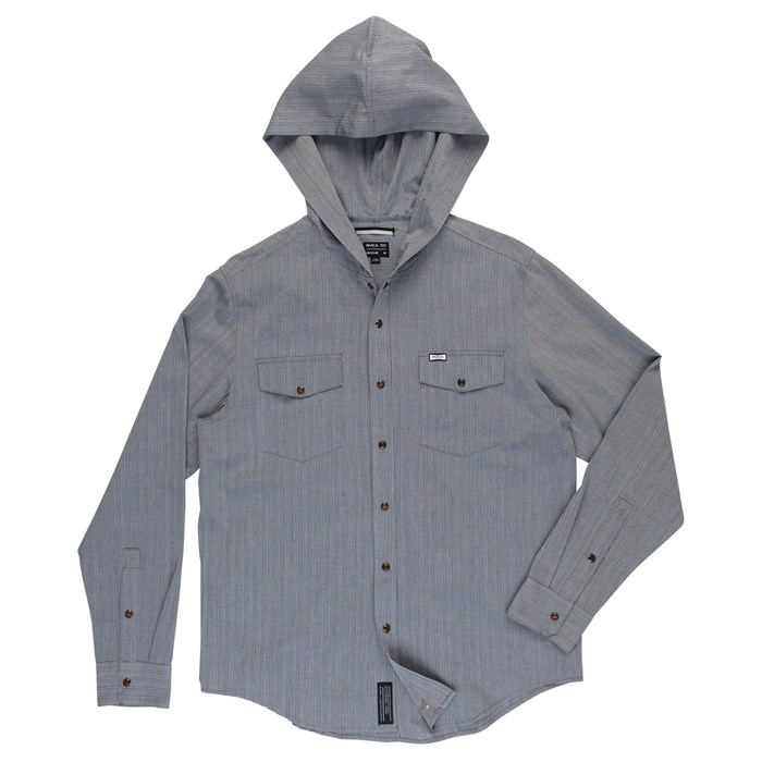 RVCA - Chamber Hooded Button-Down Shirt