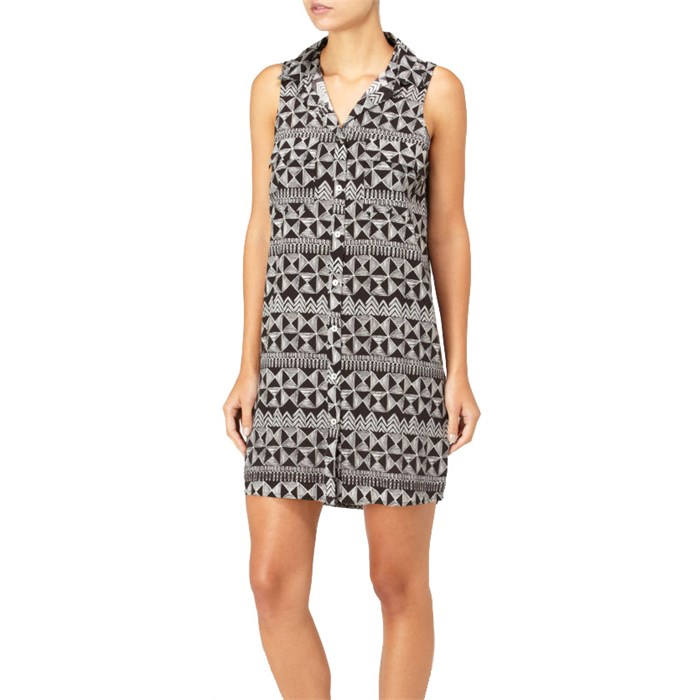 Quiksilver - Sketchy Squares Shirt Dress - Women's