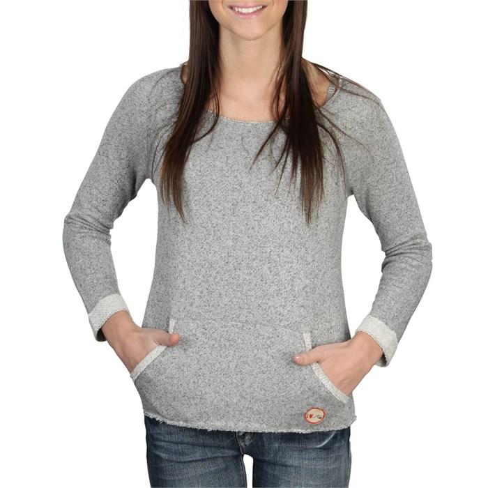 Quiksilver - I Heart QS Scoop Neck Sweatshirt - Women's