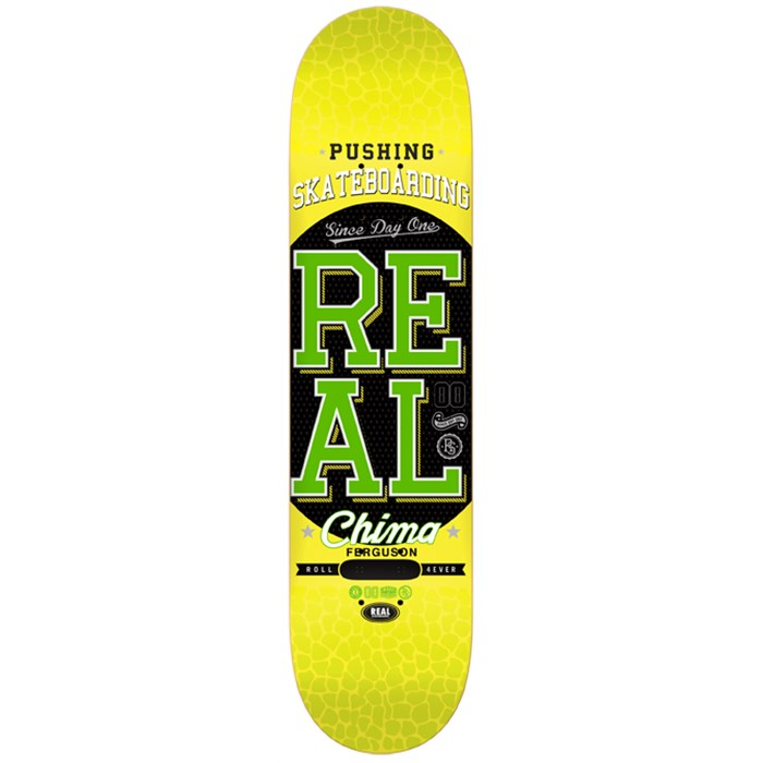 Real - Real Pushing Skateboarding Ferguson Skateboard Deck