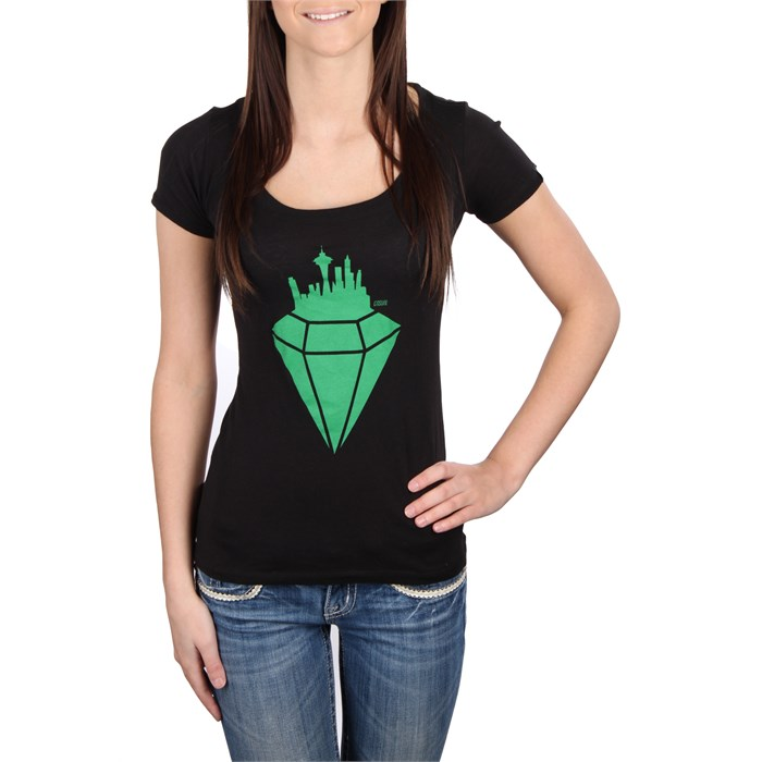 Casual Industrees - Emerald City Scoop Neck T Shirt - Women's