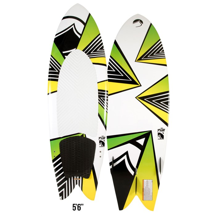 Liquid Force - Fish Wakesurf Board w/ Handle 2013