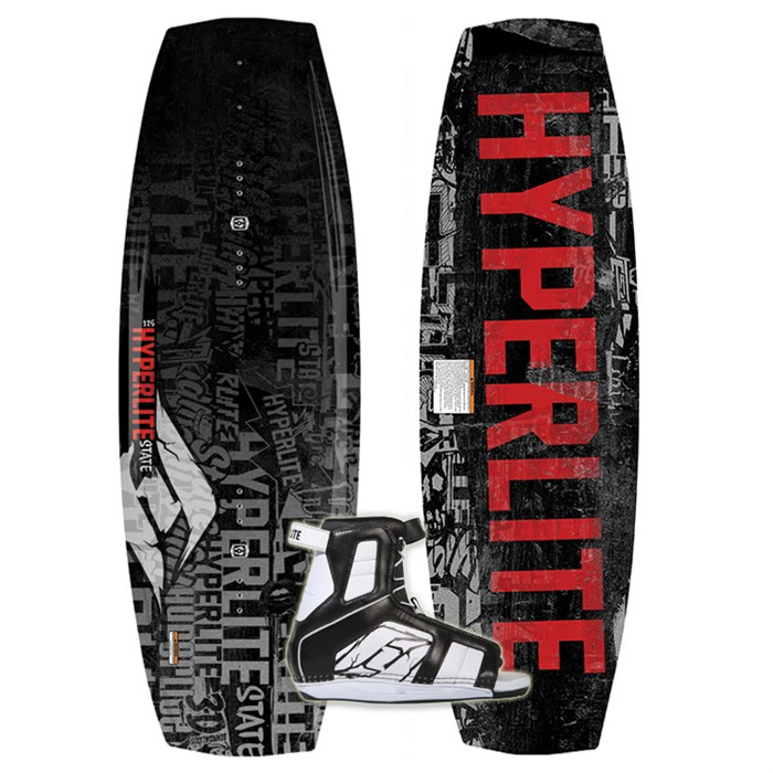 Hyperlite - State Jr Wakeboard + Remix Bindings - Boy's 2013