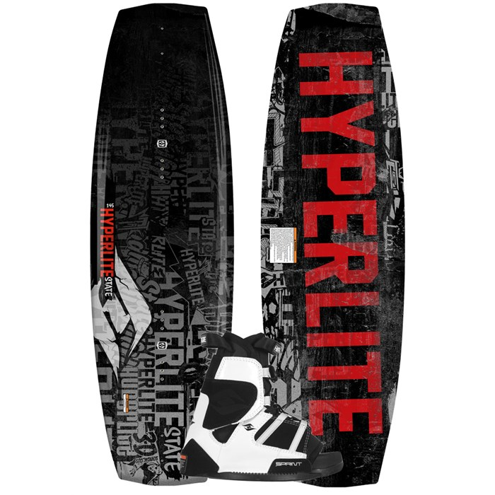 Hyperlite - State Jr Wakeboard + Sprint Bindings - Boy's 2013