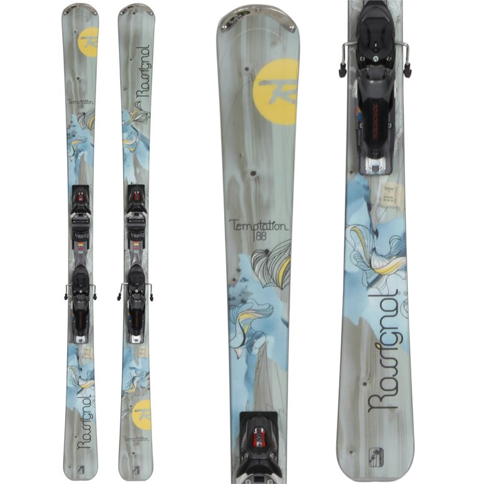 Rossignol - Temptation 88 Skis + SS Bindings - Used - Women's 2013