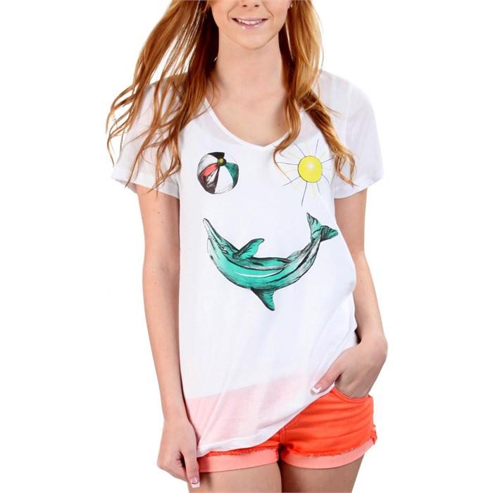 Volcom - Dolphineyes Boyfriend V-Neck T-Shirt - Women's