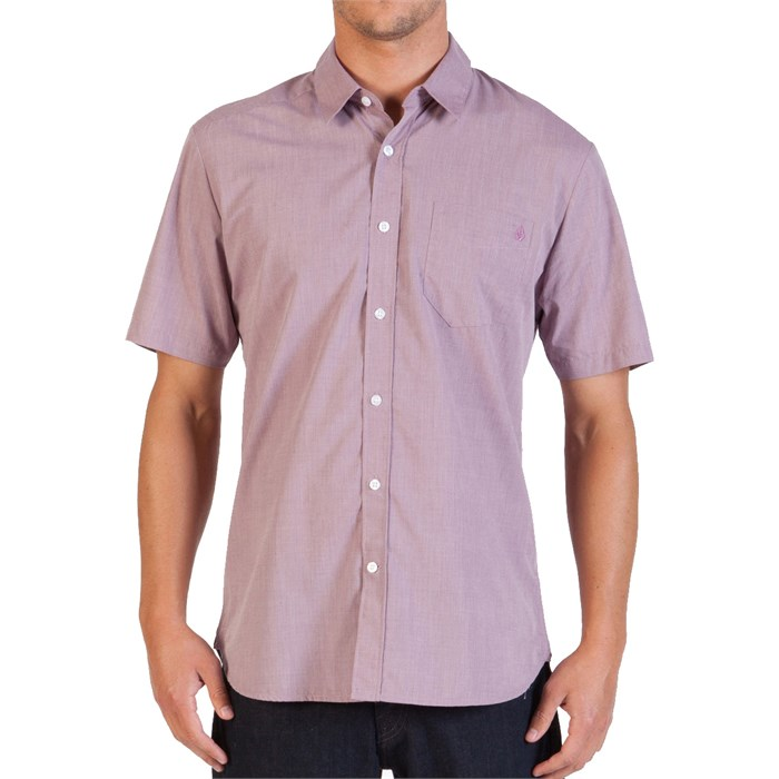 Volcom - Volcom Why Factor End On End Short-Sleeve Button-Down Shirt