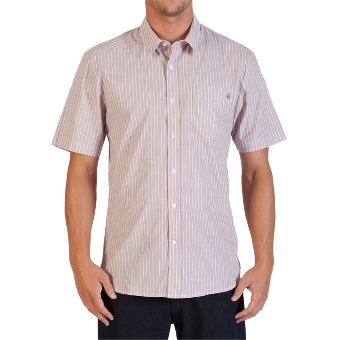 Volcom - Why Factor Stripe Short-Sleeve Button-Down Shirt