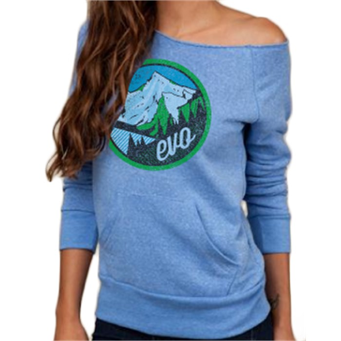 evo - Mountain Scape Raw Edge Sweatshirt - Women's
