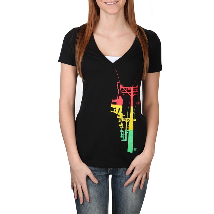 Casual Industrees - Chairlift 3 Color V-Neck T-Shirt - Women's