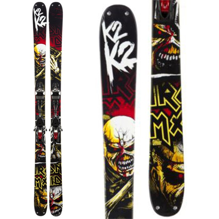K2 - Iron Maiden Skis + Marker Squire Schizo Bindings 2013