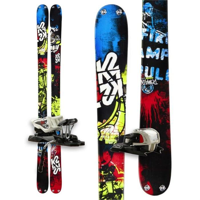 K2 - Domain Skis + Marker Free 10.0 Bindings 2013