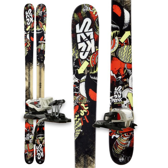 K2 - Press Skis + Marker Free 10.0 Bindings 2013